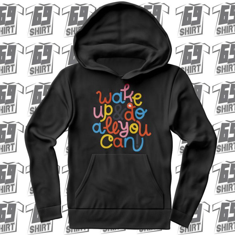 Wake Up Full Block Colored Hoodie SX0016