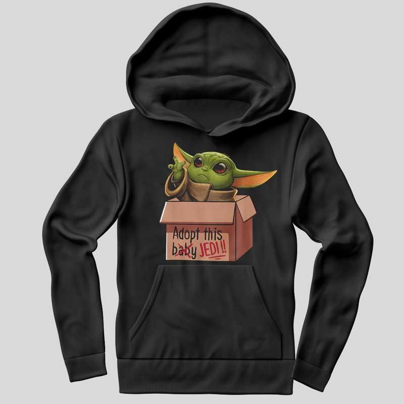 Funny Baby Jedi Mandalorian Hoodie SX0034