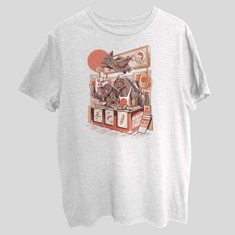 Kaiju Street Food Funny T-Shirt SX0041