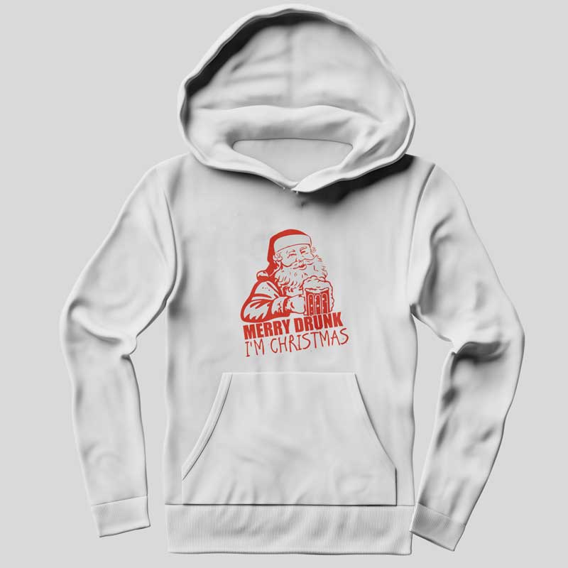 Merry Drunk Funny Gift Hoodie SX0022