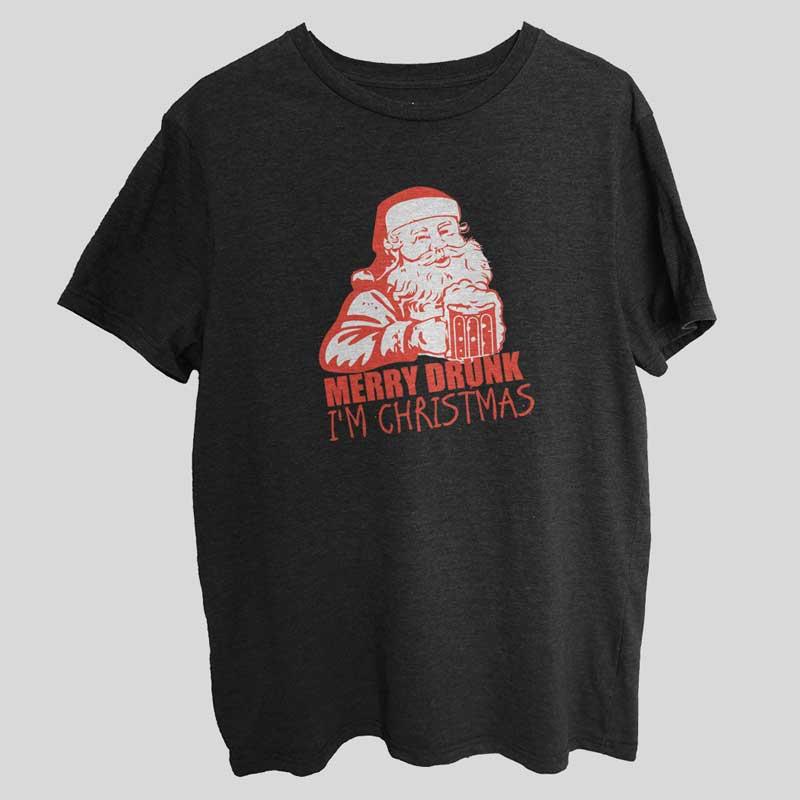 Merry Drunk Funny Gift T-Shirt SX0021