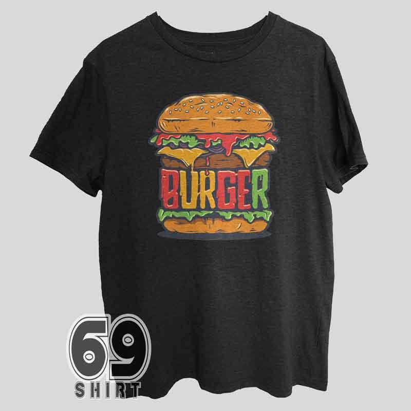 Burger Print T-Shirt Design Burger Shirt