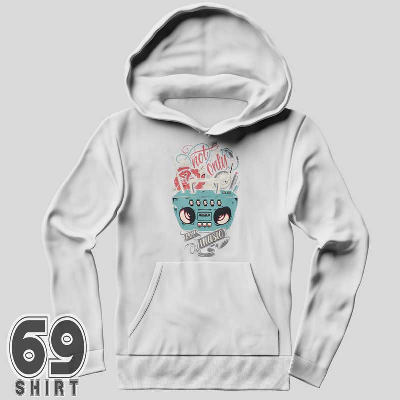 Not Only For Music Vintage Rock Hoodie