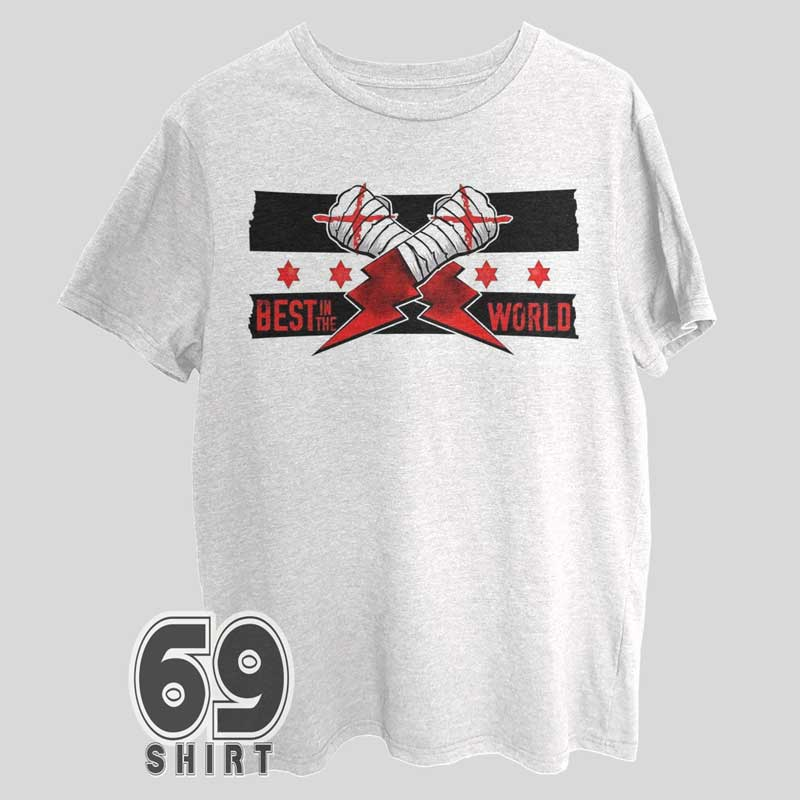 Cm Punk T-shirt Best In The World