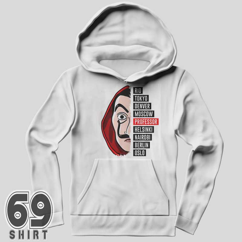 La Casa De Papel Hoodie Money Heist Sweatshirt Print