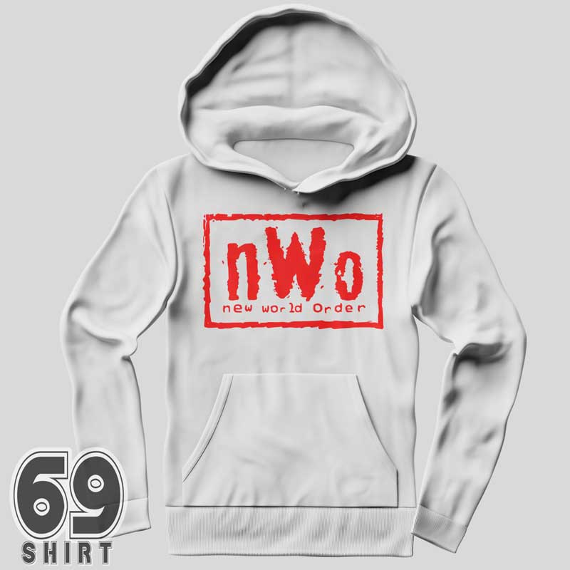 nWo New World Order Hoodie Red Letter Print